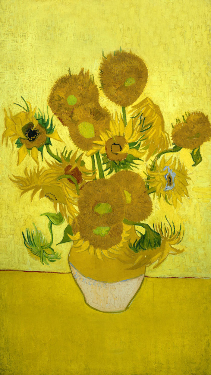 Vincent van Gogh - Sunflowers 1080x1920