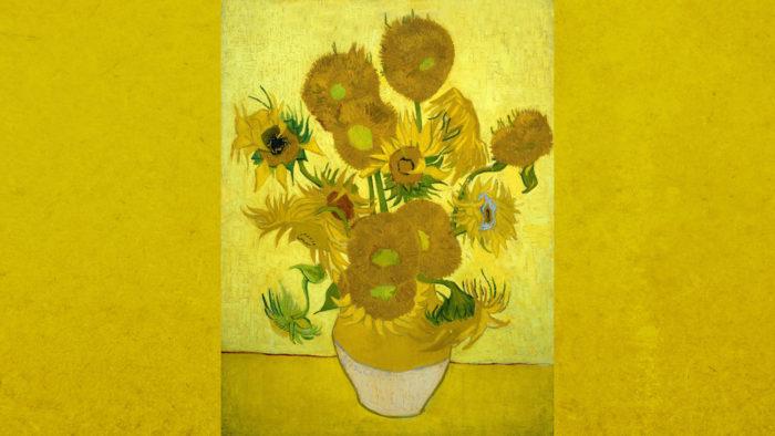 Vincent van Gogh - Sunflowers 2560x1440