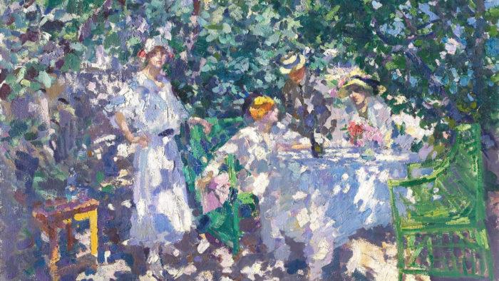 Konstantin Korovin - In the garden 2560x1440