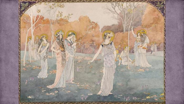 Elisabeth Sonrel - The Garden of Maidens 2560x1440