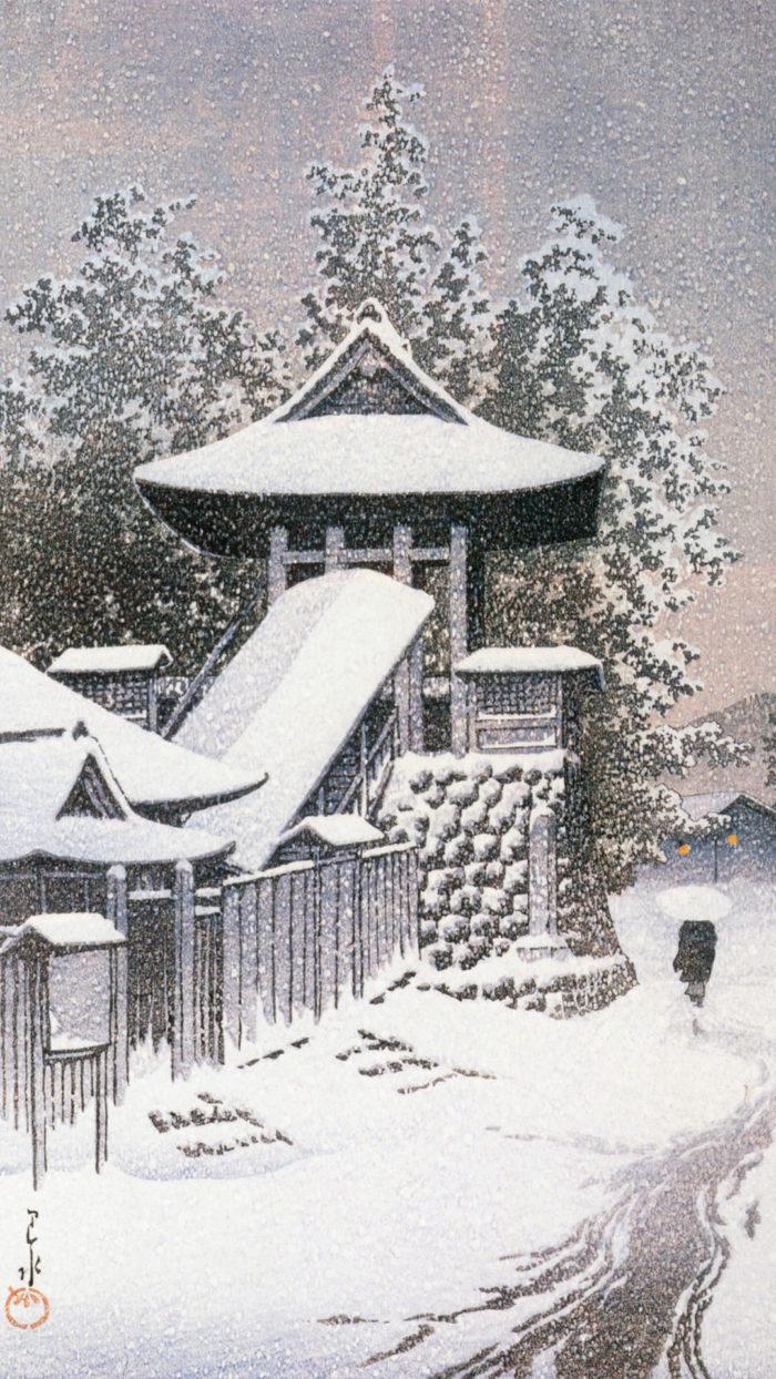 Kawase Hasui - Koyasan shoro 1080x1920