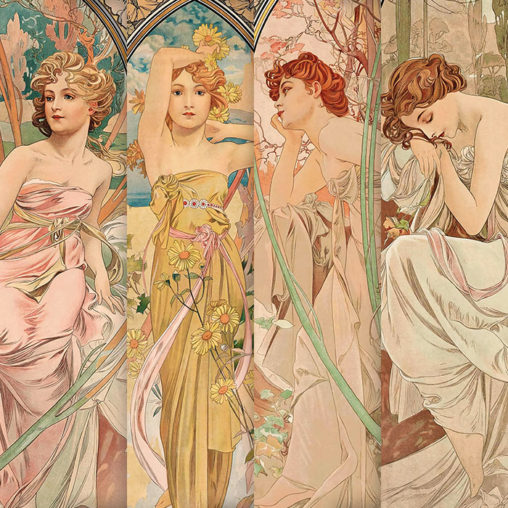 Alfons Mucha - The Times of the Day (series) d