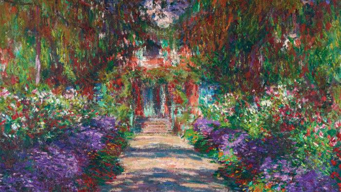 Claude Monet - Garten in Giverny, 1902 1920x1080
