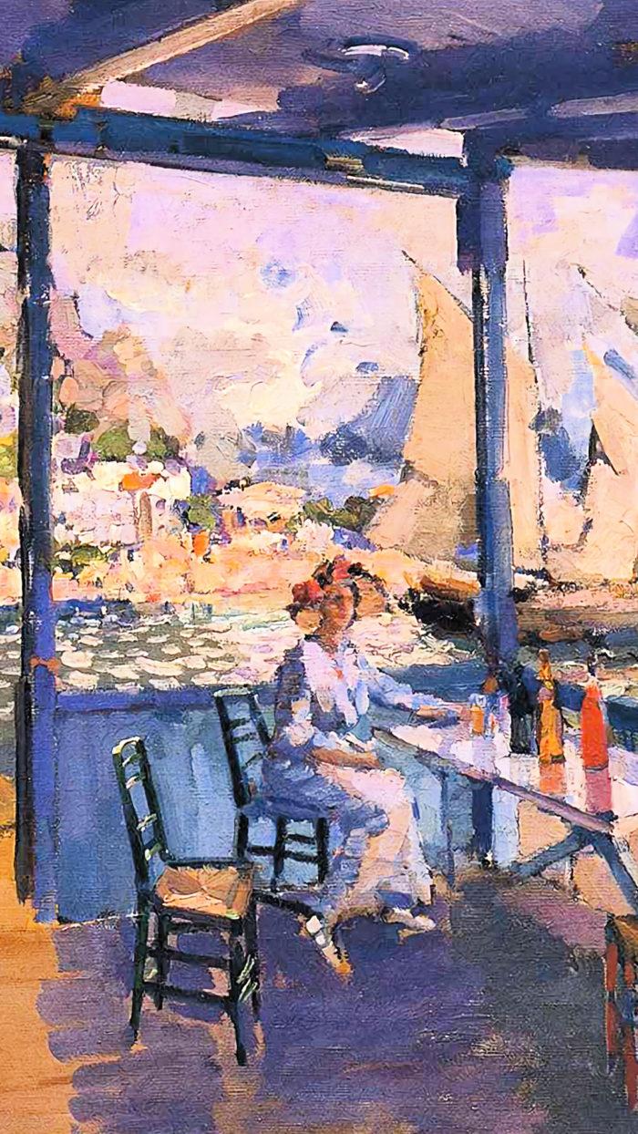 Konstantin Korovin - Pier in Gurzuf 1080x1920