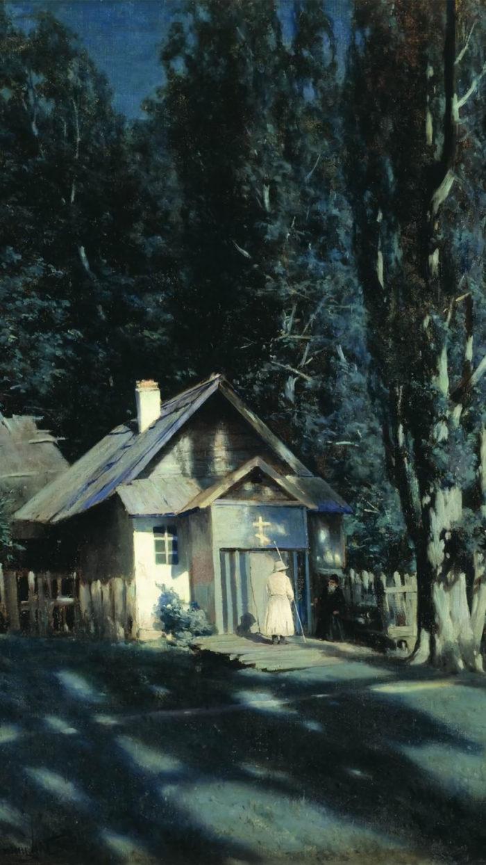 Konstantin Kryzhitsky - Moonlit Chapel 1080x1920