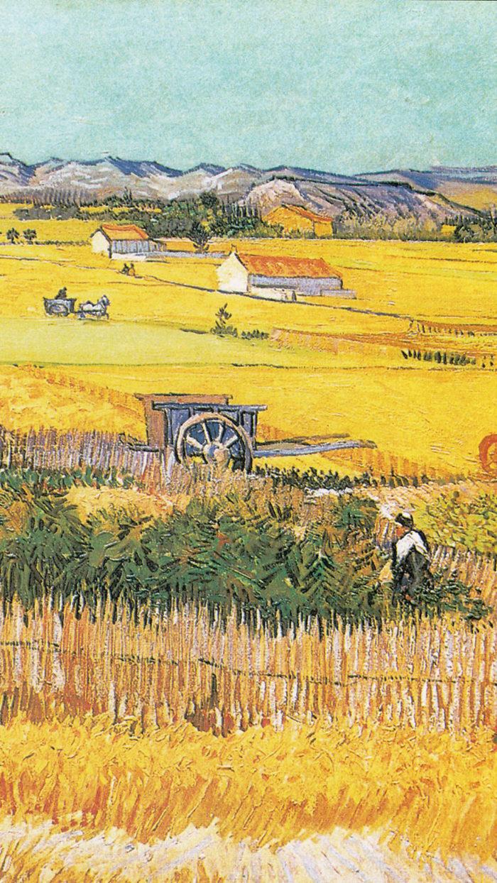 Vincent van Gogh - the harvest 1080x1920